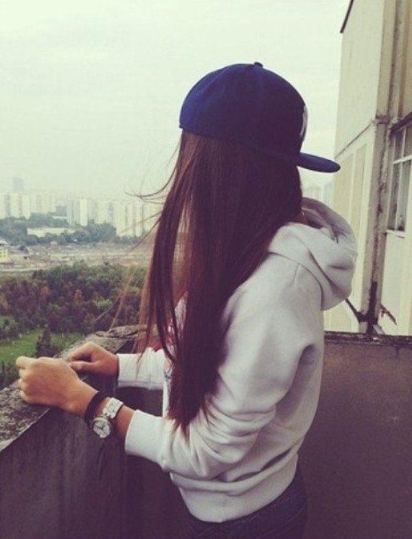 Фото на аву брюнеток с длинными волосами со спины (3)