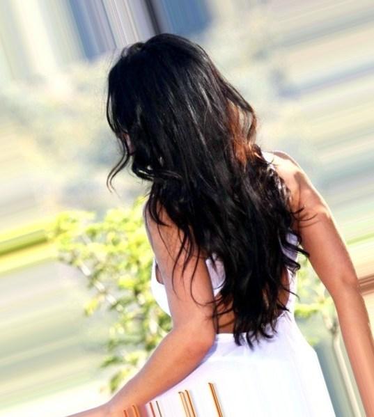 Фото на аву брюнеток с длинными волосами со спины (31)