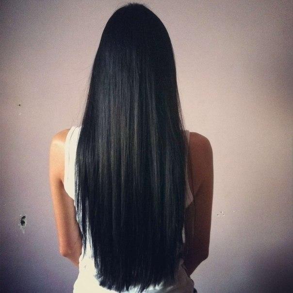 Фото на аву брюнеток с длинными волосами со спины (5)