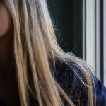 Фото на аву девушка с русыми волосами без лица