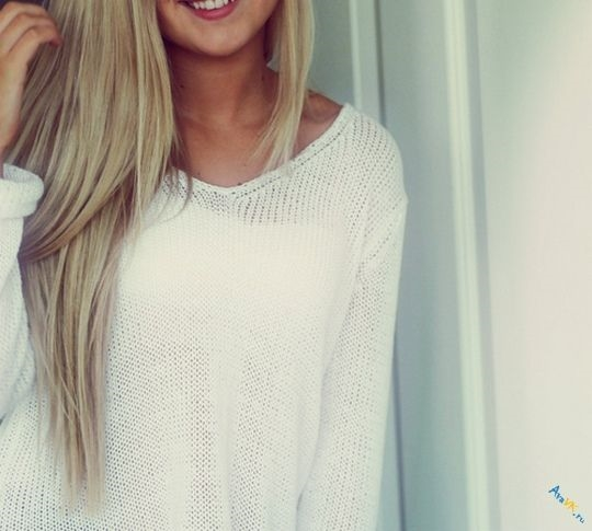 Фото на аву девушка с русыми волосами без лица015