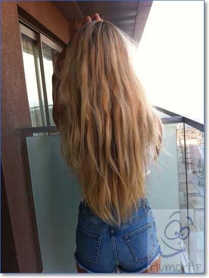 Фото на аву девушка с русыми волосами без лица017