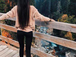 Фото на аву для девушек со спины новые осень - подборка (14)