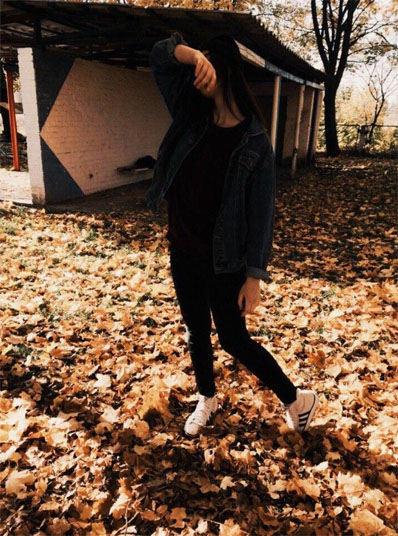 Фото на аву для девушек со спины новые осень - подборка (15)