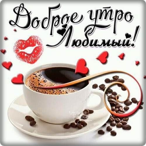 Фото с добрым утром и хорошим днем любимому005