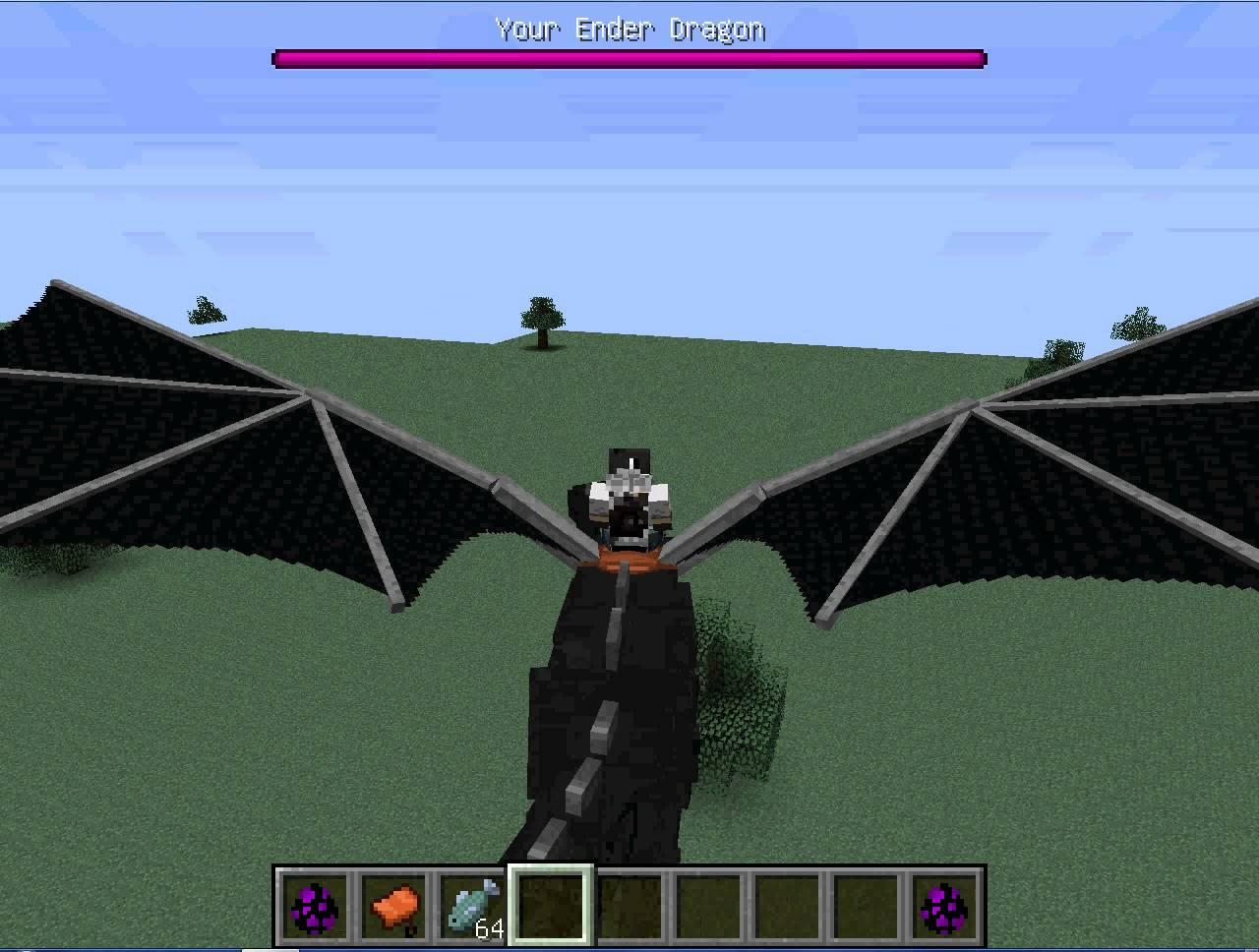 как приручить дракон в майнкрафте с модом #9