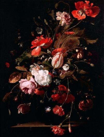 Цветы картины на черном фоне004