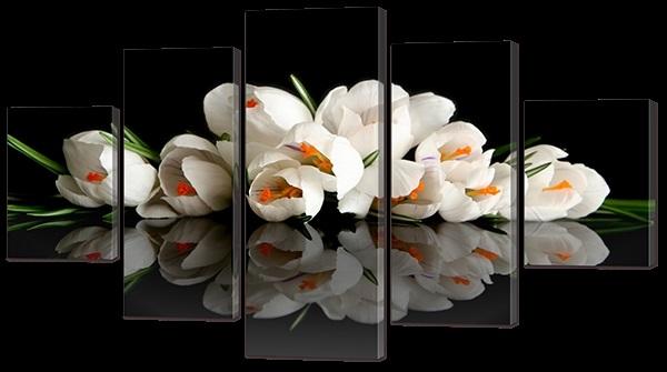 Цветы картины на черном фоне015