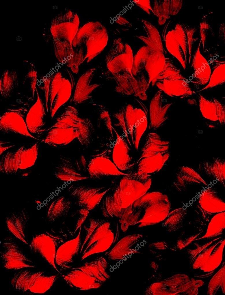 Цветы картины на черном фоне021