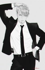 Черно-белые аниме куны - 31 артов (18)