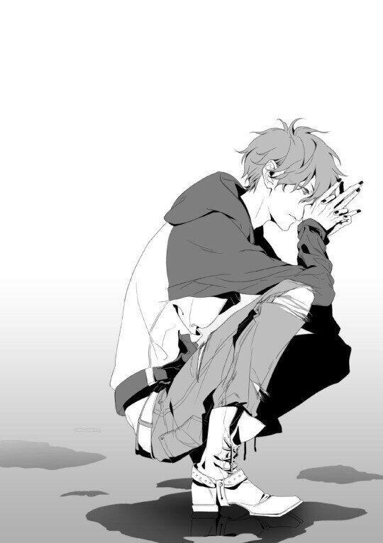 Черно-белые аниме куны - 31 артов (3)
