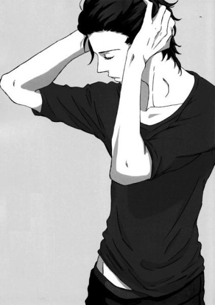 Черно-белые аниме куны - 31 артов (31)