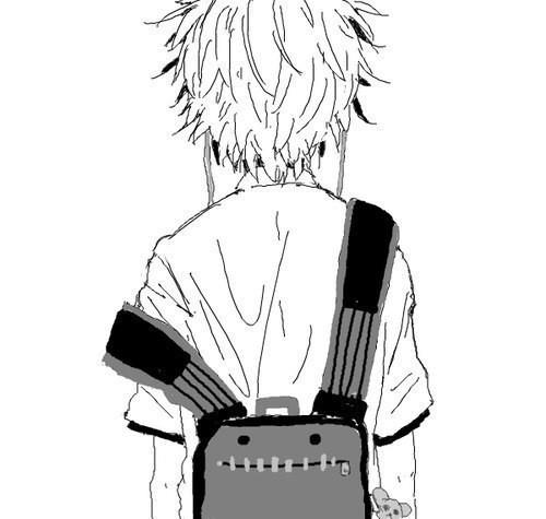 Черно-белые аниме куны - 31 артов (4)