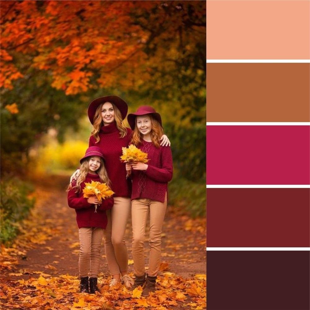 mejores colores para fotos familiares en el exterior