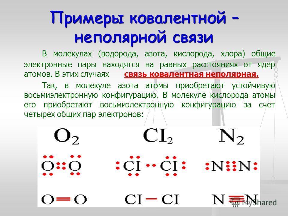 Что такое ковалентная неполярная связь (1)