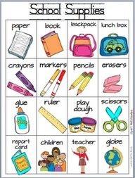 Школьные принадлежности картинки на английском для детей006