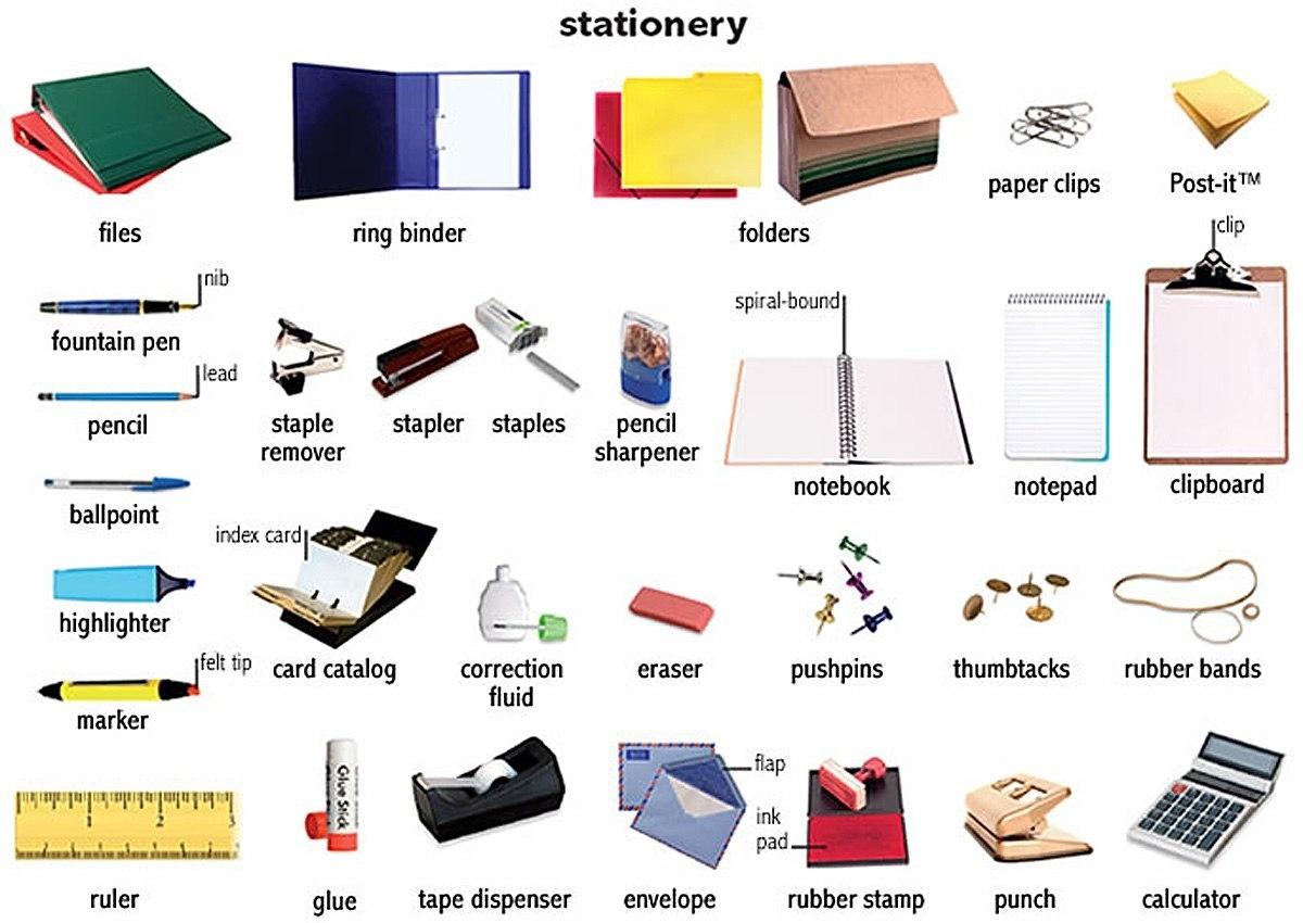 Школьные принадлежности картинки на английском для детей011