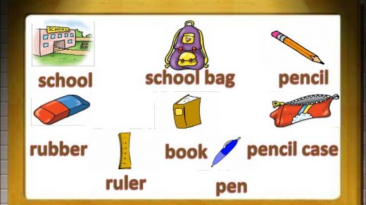 Школьные принадлежности картинки на английском для детей022
