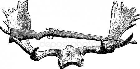 Эскизы на тему охота - сборка изображений (10)