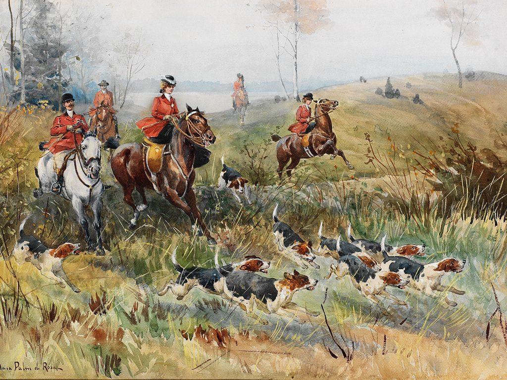 Эскизы на тему охота - сборка изображений (14)