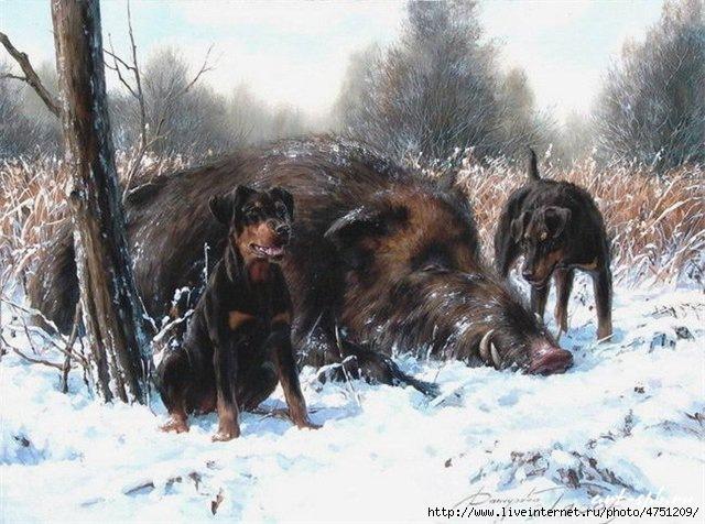 Эскизы на тему охота - сборка изображений (15)