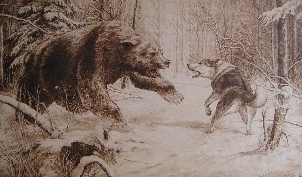 Эскизы на тему охота - сборка изображений (17)