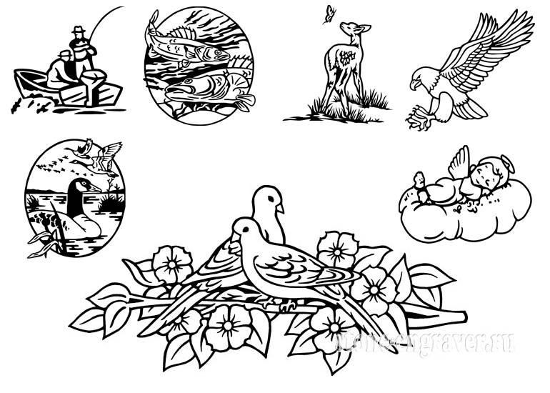 Эскизы на тему охота - сборка изображений (2)