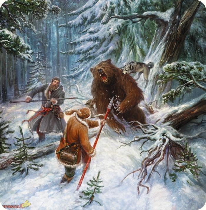 Эскизы на тему охота - сборка изображений (20)