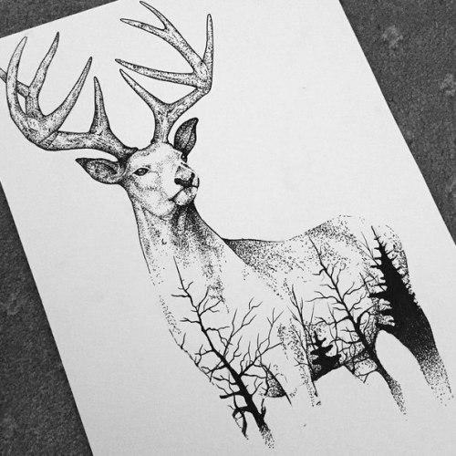 Эскизы на тему охота - сборка изображений (6)