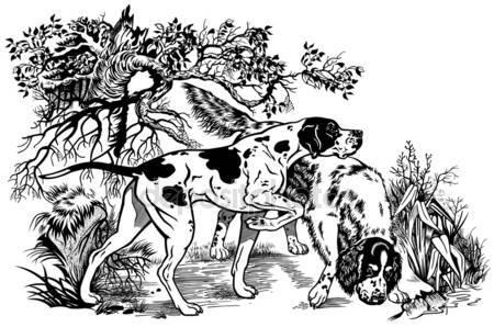 Эскизы на тему охота - сборка изображений (7)