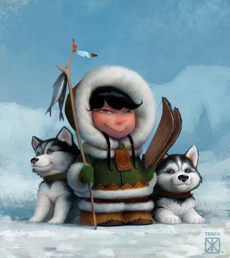 Эскимосы рисунки красивые и прикольные (14)