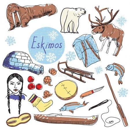 Эскимосы рисунки красивые и прикольные (15)