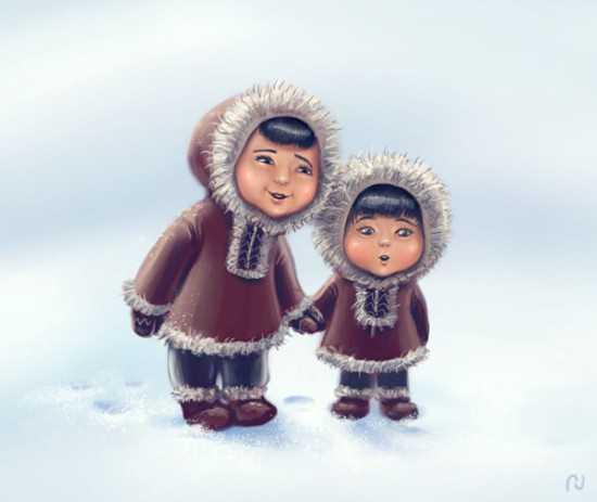 Эскимосы рисунки красивые и прикольные (7)