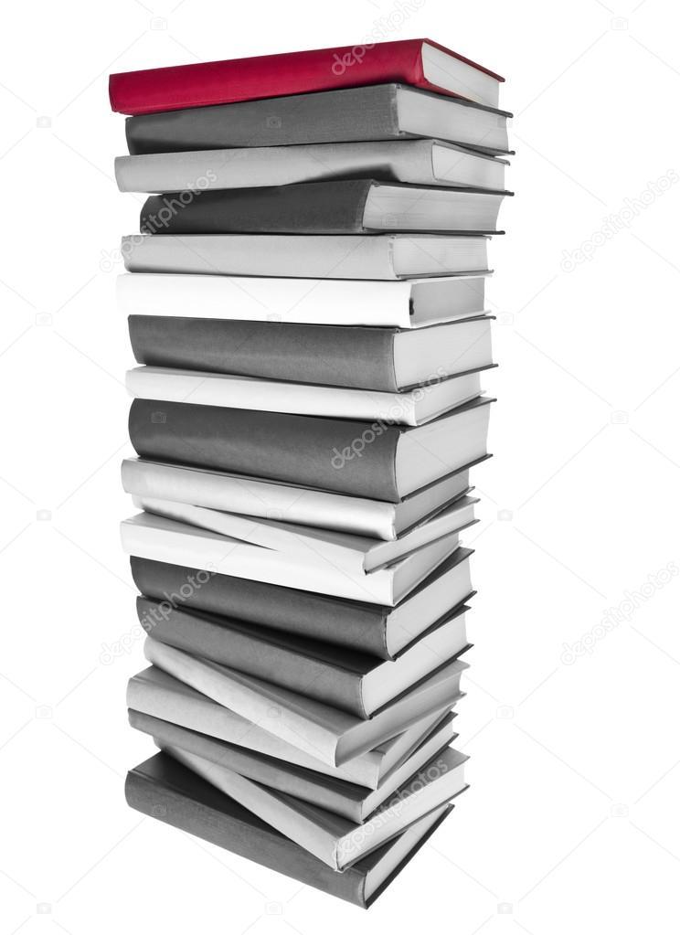 Cтопка книг черно-белые картинки - подборка (1)