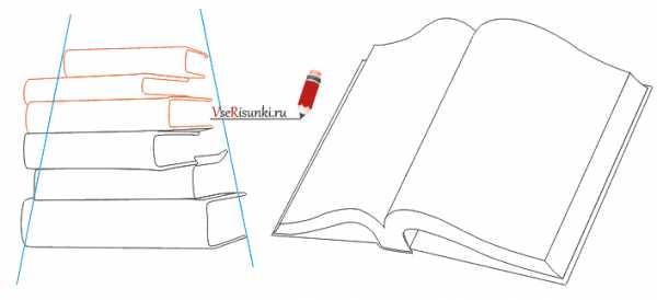 Cтопка книг черно-белые картинки - подборка (13)