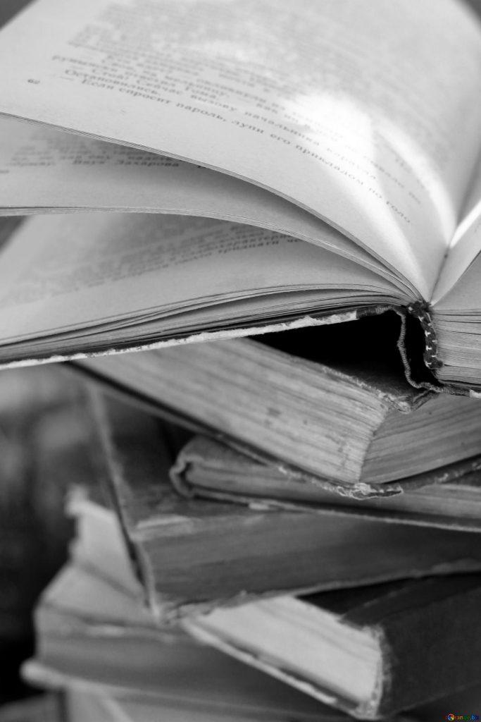 Cтопка книг черно-белые картинки - подборка (15)