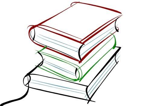 Cтопка книг черно-белые картинки - подборка (18)