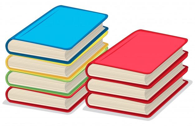 Cтопка книг черно-белые картинки - подборка (19)