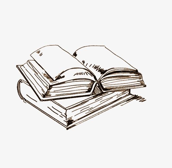 Cтопка книг черно-белые картинки - подборка (2)