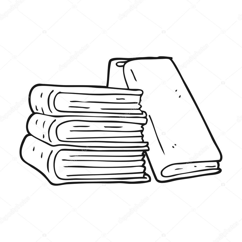 Cтопка книг черно-белые картинки - подборка (20)