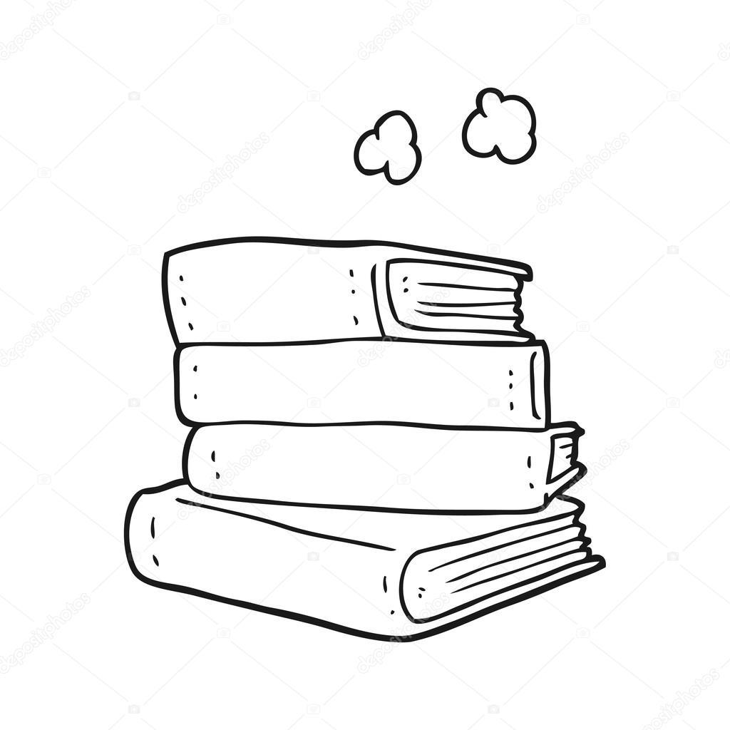 Cтопка книг черно-белые картинки - подборка (22)