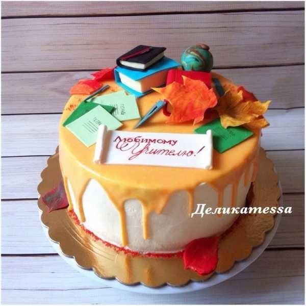 Вкусные фото тортов на день учителя022