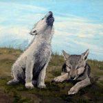 Волчата арт картинки