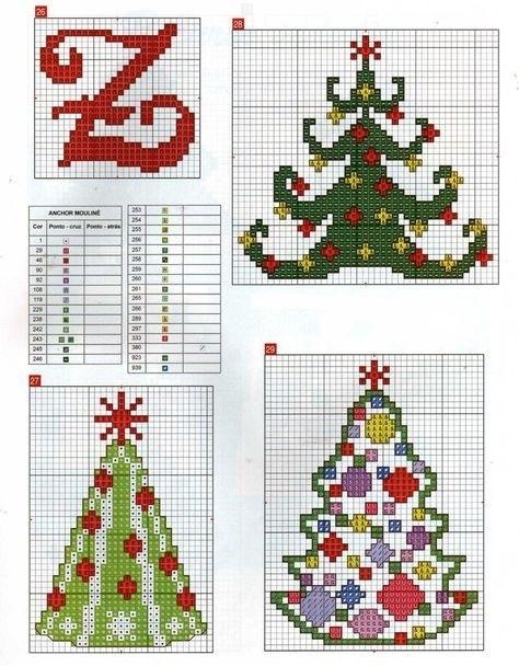 Вышивка крестом схемы рождество и новый год001