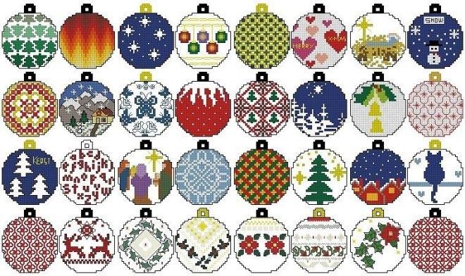 Вышивка крестом схемы рождество и новый год003