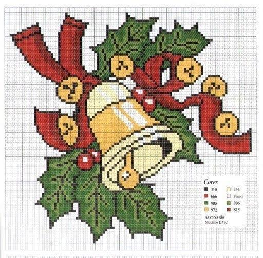 Вышивка крестом схемы рождество и новый год004