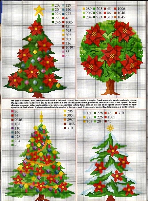 Вышивка крестом схемы рождество и новый год005