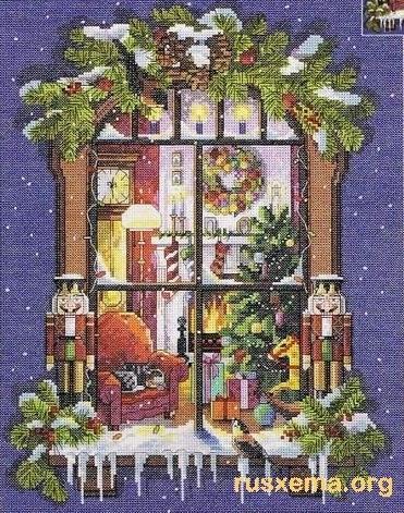 Вышивка крестом схемы рождество и новый год007