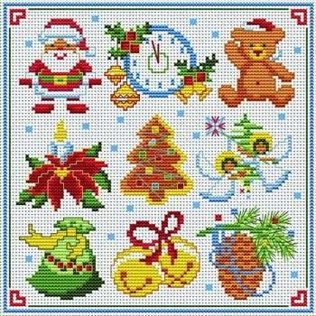 Вышивка крестом схемы рождество и новый год009