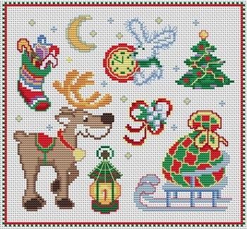 Вышивка крестом схемы рождество и новый год010